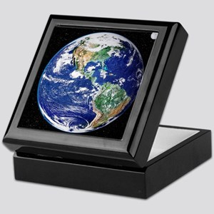 Earth from space, satellite image - Keepsake Box